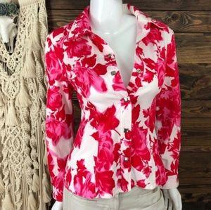 Bianca Nygard rose patterned petite  jacket sz 4